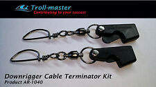 Pair of Troll-Master Downrigger Weight / Ball Clip cable Terminators LOT of 2