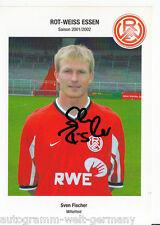 Sven Fischer Rot-Weiss Essen 2001-02 TOP AK +A45553