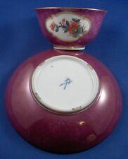 Superb Meissen Porcelain Purple Ground Kakiemon Cup & Saucer Porzellan Tasse