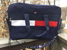 Vtg TOMMY HILFIGER 90s Travel Duffle Backpack Knapsack Bag Flag Logo Colorblock