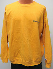 vtg MUSTARD YELLOW Champion Sweatshirt XL 90s Warmup rare gold soft crewneck