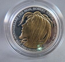 BOB MARLEY $50 SILVER GOLD OZ. OUNCE PROOF JAMAICA COIN reggae art rasta bank us