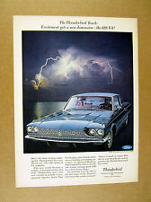 1966 Ford Thunderbird Town Landau 428 V-8 V8 blue car photo vintage print Ad