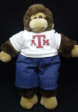 Monkey Chimp Texas A & M  T Shirt Build A Bear BAB Blue Denim Pants Plush 17""
