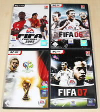 4 PC Giochi raccolta EA FIFA FOOTBALL CALCIO 05 06 07 WM --- (13 14)