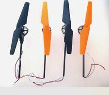 """Motorarmset komplett 2x schwarz  2x orange  für Quadrocopter  X30, """"X30V"""" X30-V"""