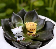 2 pz Mini Gattino Gatto Decorativa Da Giardino Fata FAI-DA-TE Figurina Micro