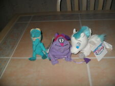 3 Disney Store Hercules Mini Bean Bag Plush Toys Baby Pegasus Pain & Panic NEW