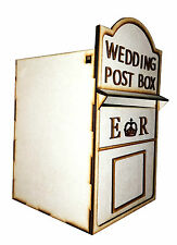 Personalised Wedding POST BOX NON VERNICIATA Flat pack carte Hing Coperchio