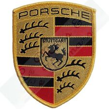 Original Porsche Crest Embroidered Cloth Emblem Badge Patch