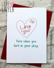 Greetings Card/ Valentine's Day / Comedy / Love Layla / Funny / Valentine / XES