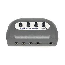 Stereo 3.5mm Audio selector headphone speaker 4:1 Switcher box 1:4 port Female