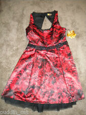 Princess Vera Wang red & black party prom dress full tulle lined skirt NWT 9