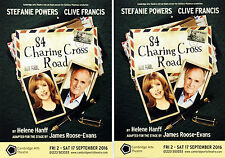 2 X STEFANIE POWERS CLIVE FRANCIS 84 CHARING CROSS ROAD THEATRE FLYERS