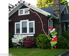 GRINCH STEALING LIGHTS CHRISTMAS WOODWORKING PATTERN,plan, craft 6 fT. hIgh
