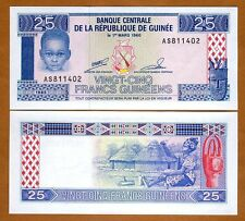 Guinea / Africa, 25 Francs, 1985, P-28, UNC   Child