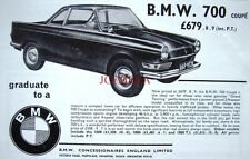 Vintage 1965 BMW '700 Coupe' Car Advert #2 - Auto Photo Print Ad