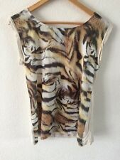 Mango Jeans Sleeveless Top Size M Tiger Print  R7767