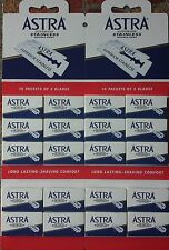 100 Astra Superior Stainless Double Edge Razor Blades - FAST Shipping