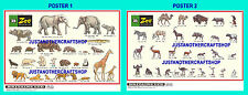 Britains Model Zoo Animals 1968 Posters x 2 Size A3 Display Sign Advert Leaflet