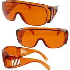 Large Will Fit Over Most Rx Shield Glasses Sunglasses Blue Block Amber 83BB