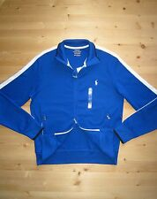 Polo Ralph Lauren Full Zip Cotton Terry Track Jacket in Size Large Royal Blue