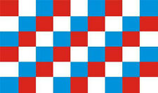 Red / White / Blue Check Chequered Large Flag 5' x 3'