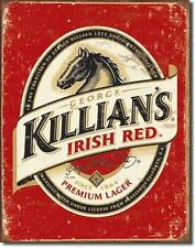 Killians IRISH BEER BIRRA VINTAGE Style metallo scudo Bar Decorazione
