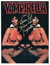 Barbra Leigh Actress Model Playboy Vampirella 8x10 Glossy Photo AUTOGRAPHED