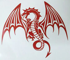 "FABULOUS DRAGON FANTASY CAR TATTOO LARGE CUT VINYL  DECAL STICKER 11"" X 8"""
