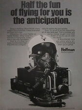 11/1974 PUB HOFFMAN NAVCOM SYSTEMS MICROTACAN TACAN HELMET CASQUE ORIGINAL AD