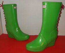 """HUNTER"" Womens Sz 8 $175.00 ""VERBIER"" Back Lace Wedge Boots-$89.99 Fast Ship!"