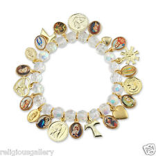 Catholic Religious Bracelet with Medals and Charms - Made in Brazil