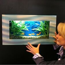 """WALL AQUARIUM 24""""x13"""" , Brushed Aluminum By Jersey Home Decor , SALE"""