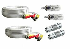*2 PACK PREMIUM 150Ft. BNC EXTENSION CABLES FOR Lorex HD camera WHITE