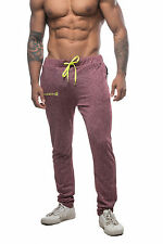 Mens Workout Joggers Slim Fitted Sweat Pants Bodybuilding Gym Lifting Pants