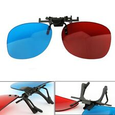 Red Cyan Blue Clip-on 3D Glasses Hanging Frame Dimensional Anagly Home TV Movie