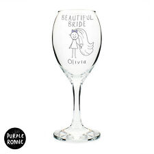 PERSONALISED WINE GLASS | HEN NIGHT BRIDE TO BE GIFT IDEA | Funky Bride Present