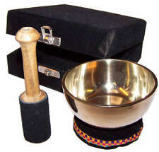 Tibetan Singing Bowl Gift Set,cushion, gift boxed, Buddhism, meditation, healing
