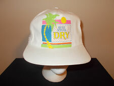 VTG-1990s Old Style Beer Special Dry Pabst neon flourscent  beach hat sku11