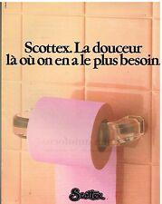 Publicité Advertising 1982 Le papier Toilette Scottex