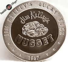 $1 FULL PROOF SLOT TOKEN JIM KELLY'S NUGGET CASINO 1967 FM MINT RENO NEVADA COIN