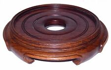 Japanese Carved Hard Wood Stand Display Signed Antique 8 1/2 inch HEAVY