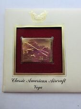 1997 VEGA Classic American Aircraft DC-3 22kt Gold Golden replica Cover Stamp