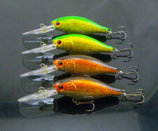 Lot of 4 deep diving big long mouth crankbaits fishing lures saltwater 110mm 15g