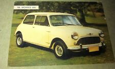 1962 MORRIS MINI 850  Weetbix Australia Swap Trade Card