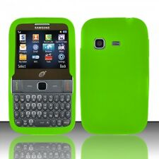 For Straight Talk Samsung S390G Rubber SILICONE Skin Case Phone Cover Neon Green