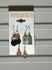 Spookies HALLOWEEN 3 Pairs Pierced Earrings~Holiday Costume Jewelry-*US SELLER*