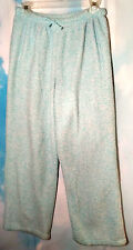 C&B Women's Pajama Pants Bottoms Soft Mottled Mint Green and White Size Medium