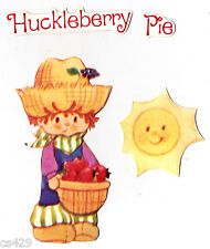 """4"""" STRAWBERRY SHORTCAKE HUCKLEBERRY PIE  VINTAGE  PREPASTED WALL BORDER CUT OUT"""